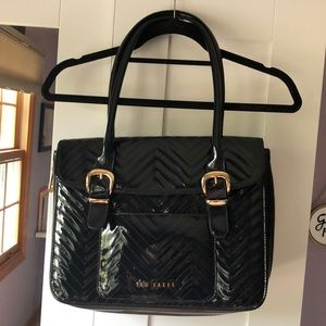 Ted Baker black faux leather purse & laptop sleeve